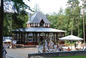Das historische Restaurant & Café »Waldquelle« am NaturTheater